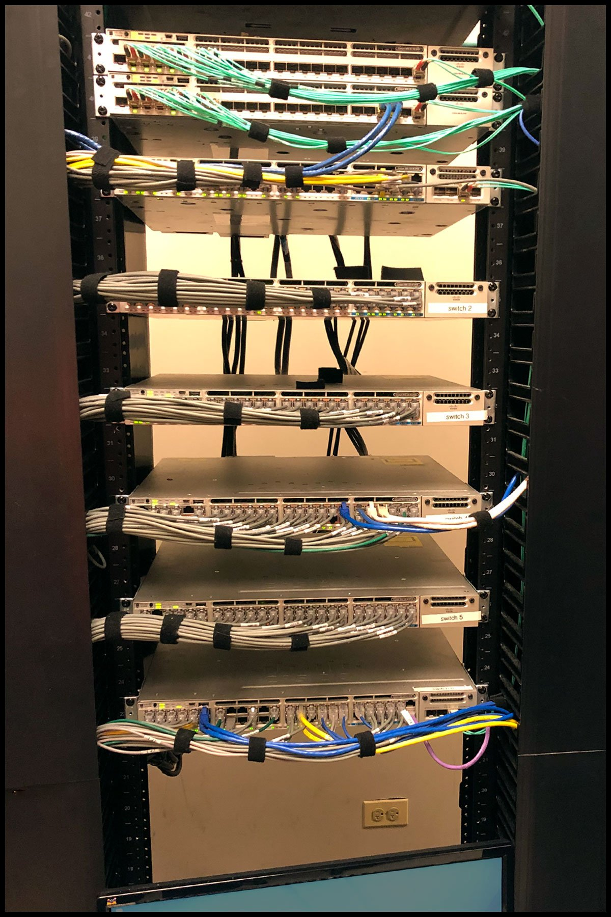 Network structured cabling installation