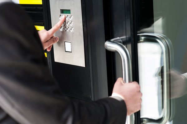 Access control door keypad for Bolingbrook business