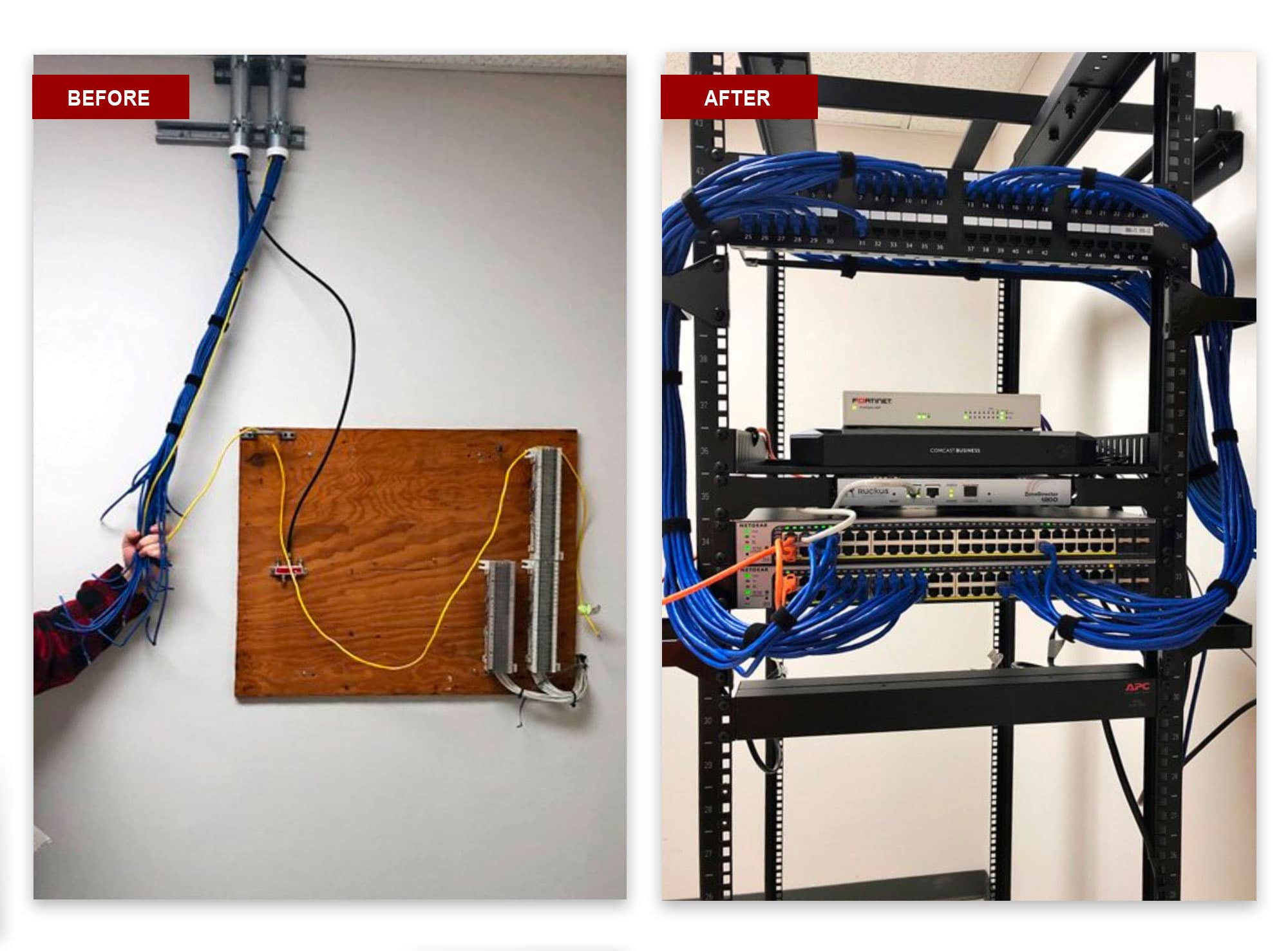 expert network cable installation